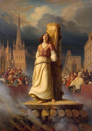 La mort de Jeanne d'Arc sur le bûcher