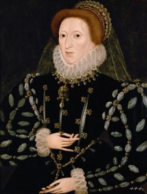 La reine Elizabeth I d'Angleterre vers 1580