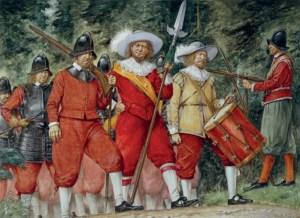 Schwedische Infanterie aus dem 17. Jahrhundert