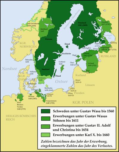 Entwicklung des schwedischen Imperiums im frühmodernen Europa (1560–1815)