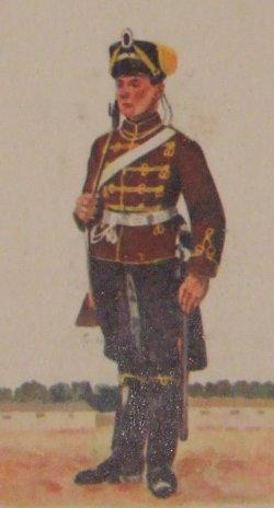 Husar des Husaren Regiments v. Schill Nr. 4 Ohlau/Schlesien (Husar im Dienstanzug)