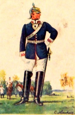 Cuirassier Regiment Queen No. 2 (Lieutenant en tenue de service)