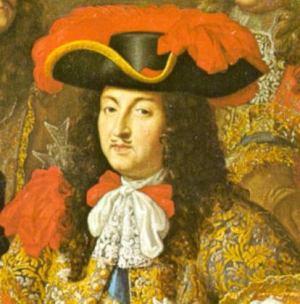 Luigi XIV. 1667 su un quadro di Henri Testelin