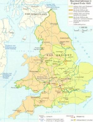Rapporti di potere in Inghilterra alla fine del 1645