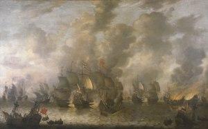 Bataille de la mer près de Scheveningen le 10 août 1653