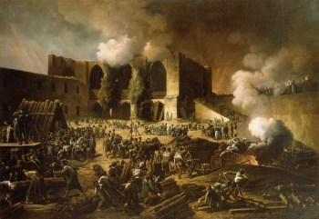 Assedio di Burgos da parte delle forze anglo-portoghesi guidate dal duca di Wellington, 1812, pittura di François-Joseph Heim