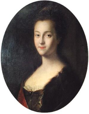 Katharina II. von Russland mit ca. 15 Jahren