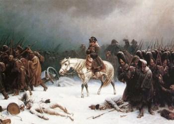 Napoleon auf dem Rückzug aus Russland (Gemälde von Adolf Northern)