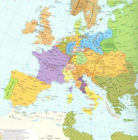 Европа в 1815