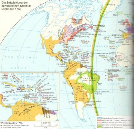 Karte Südamerika Ende des 18. Jahrhunderts