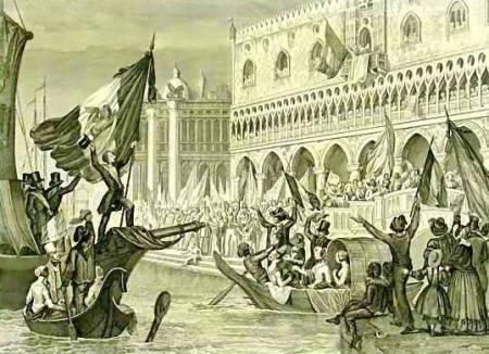 Провозглашение республики Венеция 23 марта