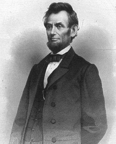 Abraham Lincoln, allora presidente degli Stati Uniti