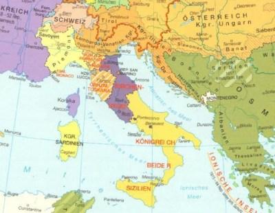 L'Italie au milieu du XIXe siècle