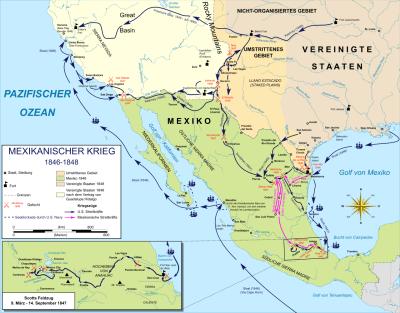 Karte des Kriegsgebiets