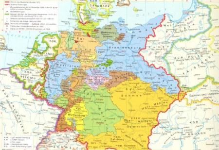 Mitteleuropa von 1815 bis 1866
