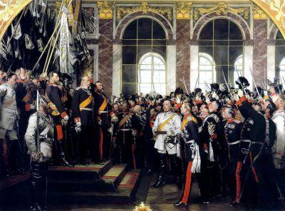 Proclamazione dell'imperatore tedesco, Pittura di Anton von Werner