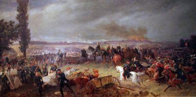 Scène de la bataille décisive de Königgrätz