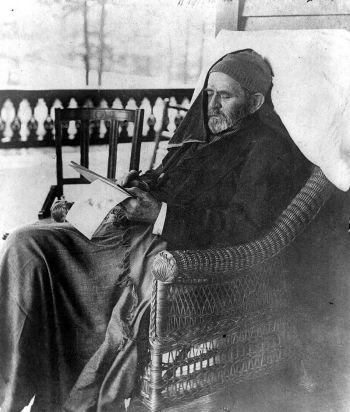 Ulysses S. Grant beim Schreiben seiner Memoiren
