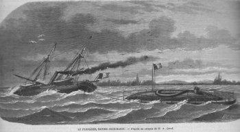 1863 le Plongeur à la remorque de La Vigie
