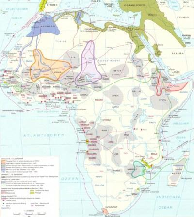 Африка с 1500 по 1800