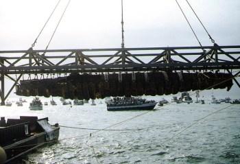 Sauvetage de l'épave en 2000