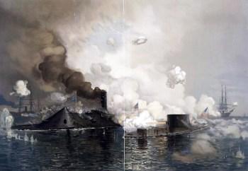 Das Gefecht zwischen der CSS Virginia und der USS Monitor