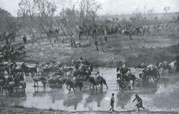 俄国军队在沉阳战役后撤退