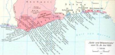Золото и побережье раба с 15-ого по 19-ый век