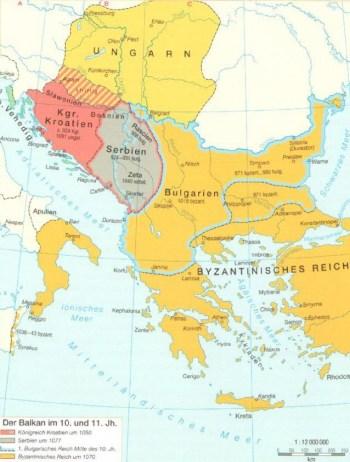 Der Balkan im 10. und 11. Jahrhundert