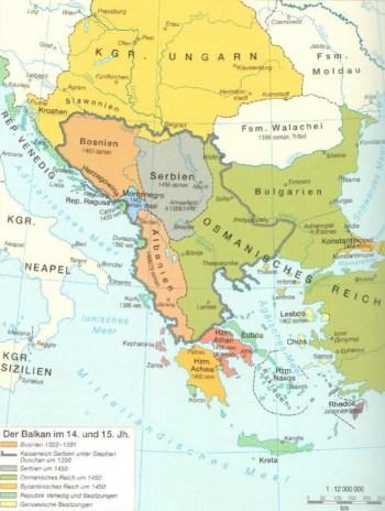 Los Balcanes en los siglos XIV y XV