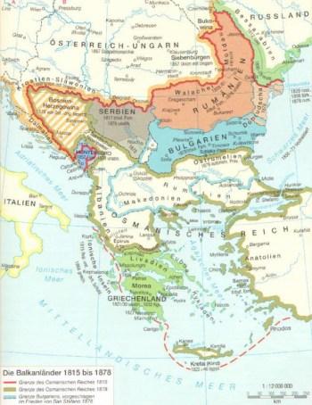 19世纪的巴尔干半岛
