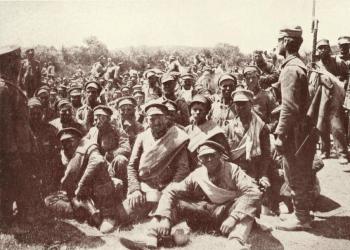 捕获的保加利亚士兵