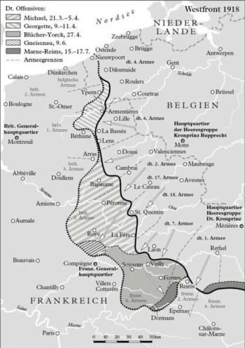 Les dernières offensives allemandes en 1918