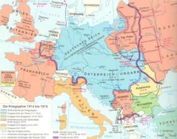 1914年至1916年的战争年代