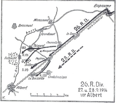 26. Reserve Division im September 1914 vor Albert