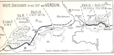 Die 243. Infanterie-Division vor Verdun 1917