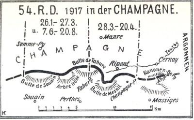 Einsatz der 54. Reserve Division 1917 in der Champagne