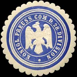 Siegelmarke der 28. Division
