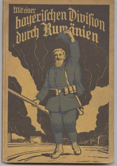 Vorderseite des 1917 vom Divisionspfarrer Jakob Weis herausgegebenen Erinnerungsbuches an die Rumänienkämpfe