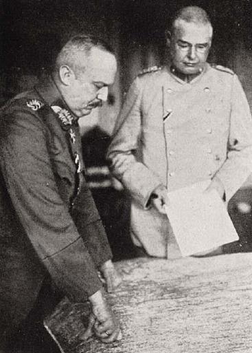 Ludendorff con il suo collega, il colonnello Max Hoffmann
