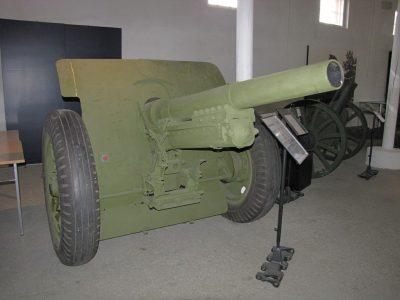 Obice da campo luce modificato da 10,5 cm Modello 16 dalla Norvegia