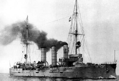 Petit croiseur le SMS Augsburg