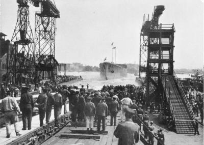 Lancio dell'SMS Hindenburg