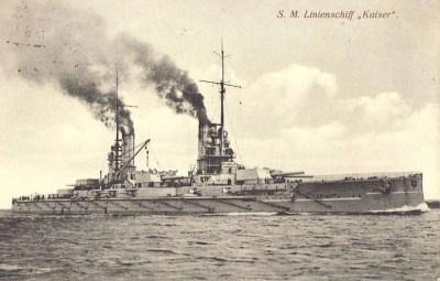 Почтовая открытка большое рейсовое судно СМС императора