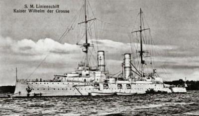 Bateau de ligne le SMS Kaiser Wilhelm der Große