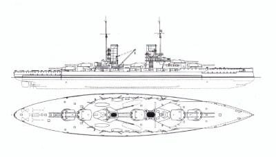 Vue latérale et vue de dessus de la classe König