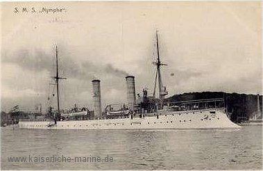 Small cruiser SMS Nymphe