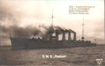 Small cruiser SMS Rostock