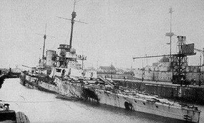 SMS Seydlitz après la bataille du Skagerrak