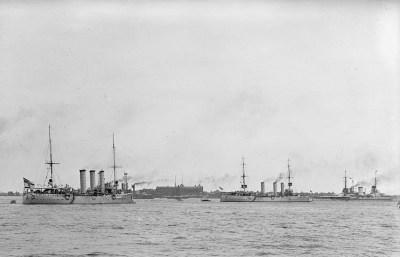 SMS Stettin, SMS Bremen e SMS Moltke a Hampton Roads, USA il 3 giugno 1912